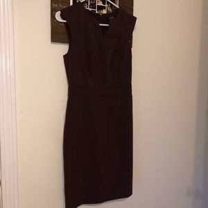THE LIMITED MAROON COCKTAIL DRESS